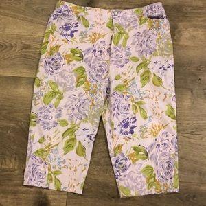 Gloria Vanderbilt Cropped Capri Pants Size 14